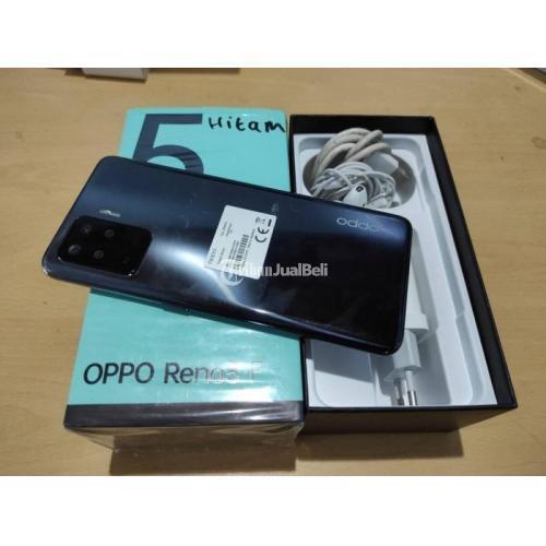 HP Oppo Reno 5F Ram 8GB/128GB Fullset Bekas Fungsi Normal - Semarang