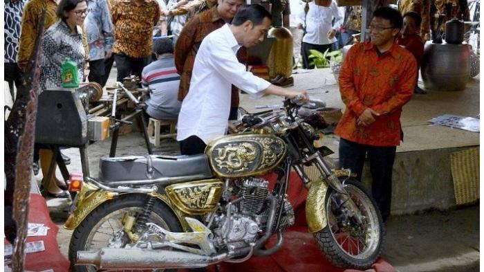 Presiden Jokowi Terpikat Dengan Motor Modif yang Mempesona Ini! Harganya Wow Banget!