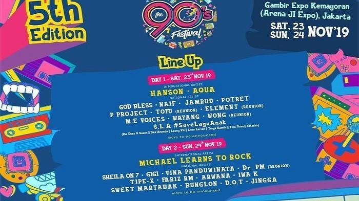 Tak Hanya Band Lokal, Band Mancanegara 'Aqua' Juga Akan Turut Memeriahkan The 90's Festival