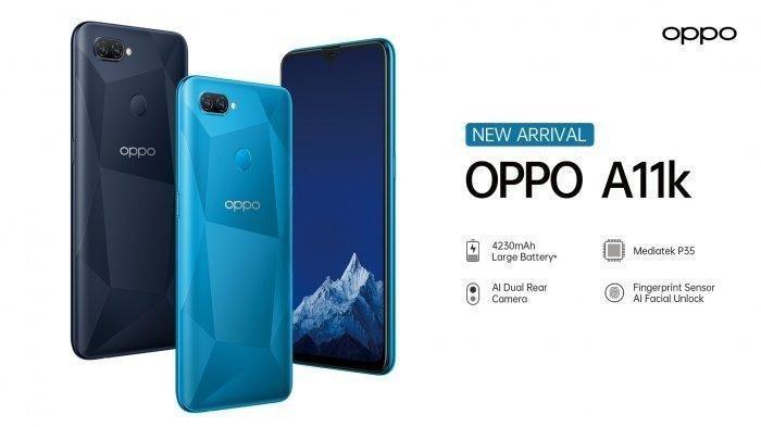 Cek Spesifikasi dan Harga Smartphone OPPO A11K yang Resmi Diluncurkan di Indonesia