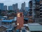 Rumah Modern Minimalis di Gang Sempit Padat Penduduk
